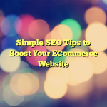 Simple SEO Tips to Boost Your ECommerce Website